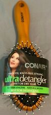 CONAIR ULTRA DETANGLER WET OR DRY natural Wood Hair Brush