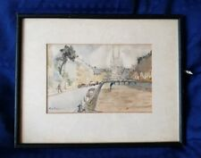 Framed Vintage / Retro Watercolour Painting - Signed Mary Thomson 1979