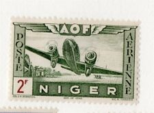 French Nigeria 1940s Air Mail Early Issue Fine Mint Hinged 2F. 229569