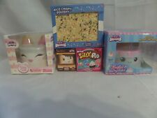 New Genuine Silly Squishies Rice Crispy/Kitty/Narwhal + Mini Smore & Silly Poo
