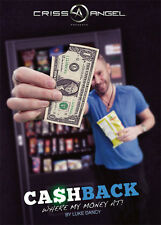 CASHBACK DVD BY LUKE DANCY - CRISS ANGEL MAGIC BILL MONEY CARD TRICKS ILLUSIONS