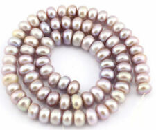 Natural 7-8mm Purple Freshwater Cultured Baroque Pearl Rondelle Loose Beads 15''
