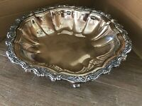 Webster Wilcox Oneida Vegetable Bowl Countess Footed Silverplate Antique