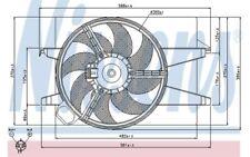 NISSENS Ventilador, refrigeración del motor FORD FIESTA FUSION MAZDA 2 85032