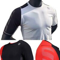 Reebok UFC Training Short Sleeve Compression Rashguard Top Shirt Black Red White