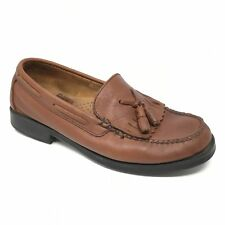 Women's Bass Weejuns Katherine II Loafers Shoes Size 7.5W Wide Brown Tassels D9