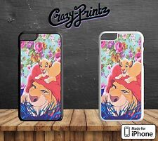 Lion King Floral Simba Mufasa Cool Hard Case Cover for iPhone Models A4
