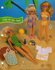 FUN IN THE SUN OUTFITS BATHING SUITS CROCHET PATTERN INSTRUCTIONS FASHION DOLL