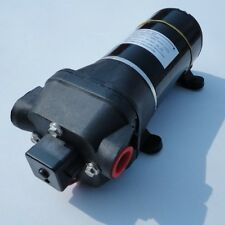 Black High Pressure Water Pump 12 V DC 40 PSI 4.5 GPM. Fittings Replace Flojet
