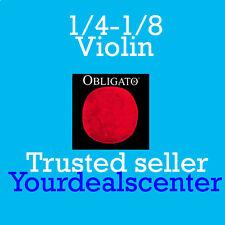 Pirastro Obligato 1/4-1/8  Violin String Set Steel Ball