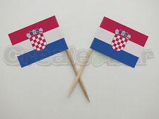 72 Croatian Flag Picks -  Buffet Sandwich Food Party Sticks - CROATIA Flags