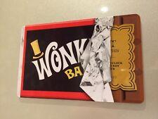 Willy Wonka Bar + Golden Ticket Fridge Magnet Chocolate Bar Retro Cool Gift