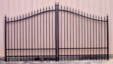 Steel - Iron Driveway Entry Gate 14' Wide Inc Post Package Residential Security