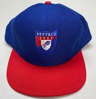 Vintage Buffalo Bills NFL Snapback Nutmeg Mills Hat, USA Made By American Needle