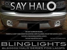 Ford F-150 White Halo Angel Eye Fog Lamp Driving Light Kit with Switch & Harness