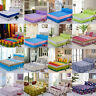 16 Colors Bed Sheet Skirt Flat Sheet Set and Pillowcase Full Queen King Size