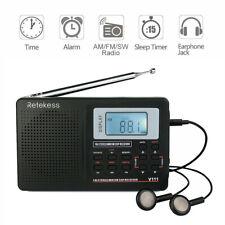 Retekess V111 Portable AM/SW/FM Radio World Band Receiver Digital Alarm For Gift