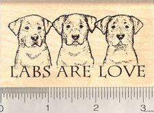 Labs are Love Rubber Stamp, Labrador Retriever Dog K5503 WM