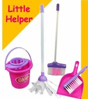 Kids Cleaning Role Play Set Childrens Toy Kitchen Helper Dustpan Sweeping Brush