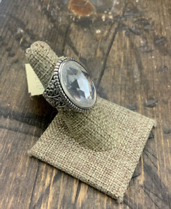 Barse Glisten Oval Quartz Ring- Sterling Silver-6-New With Tags