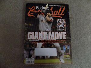 beckett baseball october 2021 #187 kris bryant san francisco giants