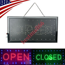 """Bright Led 2in1 Open&Closed Store Shop Business Sign 9.8*20.47"""" Display neon Fda"""