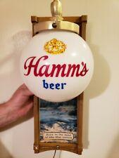 Vintage Hamm's Beer Wall Sconce Globe Lighted Sign