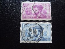 FRANCE - timbre yvert et tellier n° 296 297 obl (A4) stamp french (E)