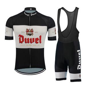 Duvel Beer Cycling Jersey bib shrots Cycling Short Sleeve Jersey