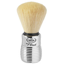 S10081 Omega S-Brush Synthetic Shave Brush Chromed Beehive Handle