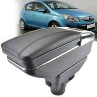 For Opel Vauxhall Corsa D 2006-2014 Armrest Rotatable Storage Box Black Ashtray