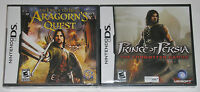 Nintendo DS Lot - Aragorn's Quest (New) Prince of Persia Forgotten Sands (New)