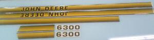 John Deere 6300 Hood Decals