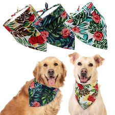 Dog Neckerchief Bandana Collar Small Large Dogs Cotton Neck Scarf Triangle Bibs