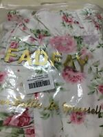 FADFAY Shabby Chic Pink Roses Ruffled Pillow Shams Queen Size