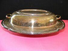 Middletown Silverware Silverplate Divided Vegetable Serving Dish Double Server