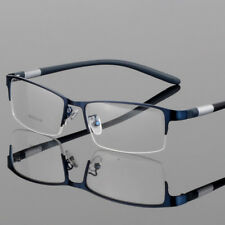 New Men's Metal Half Rimless Myopia Eyeglasses Frames Optical Eyewear RX Able