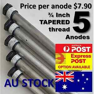SUBURBAN HOT WATER ANODE X 5 (FIVE)  <<<TAPERED THREAD TO SUIT MOST SW6DEA>>>