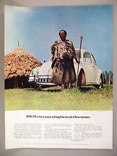 Volkswagen VW Beetle Bug PRINT AD - 1966 ~~ King Njiiri of Kenya