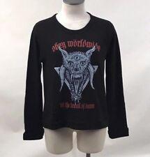 Obey Women's Pullover Break of Dawn Black Size S NEW Motorhead Lemmy