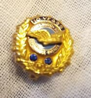 VINTAGE 10K GOLD ◇ 2 SAPPHIRES 10 YEARS PRATT & WHITNEY AIR ◇  DEP. ENGINES PIN