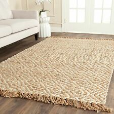 Safavieh Casual Natural Fiber Hand-Woven Sisal Style Natural / Ivory Jute Rug (9