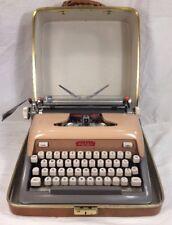 Vtg MCM Royal Futura 800 Typewriter Pink Gray Portable Working W/ Case