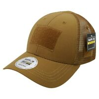 Coyote Ripstop Military Patch Tactical Operator Contractor Mesh Trucker Cap Hat