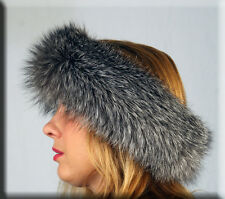 New Indigo Fox Fur Headband - Efurs4less