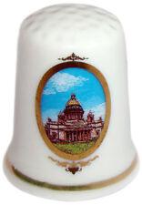 Dé à coudre de collection en porcelaine St.Petersbourg russie Deux cathédrales