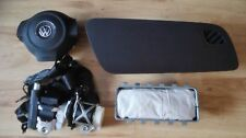 AIRBAG SET VW POLO 6R 2008-2014 DRIVER PASSENGER AIRBAG + COVER + SEAT BELTS