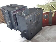"A UNIVERSAL MODEL 'B' 5"" X 4"" CAMERA BY NEWMAN & GUARDIA + 2 PLATE HOLDERS c1894"