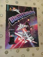 Atari Blasteroids Video Arcade Game Flyer, 1987 NOS