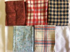 FAT QUARTER BUNDLE OF 5-100% COTTON - F362-FLANNEL
